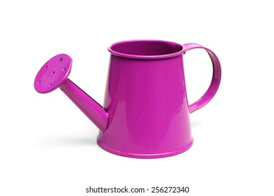 purple watering can isolated