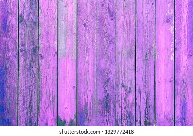 Purple wood background - Pink planks   with peeling paint in vertical lines - Image