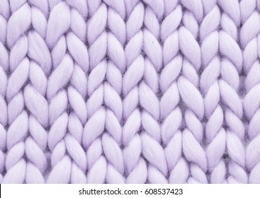 Purple woolen, fluffy sweate