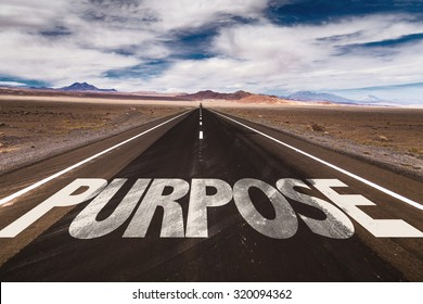 Purpose written on desert road