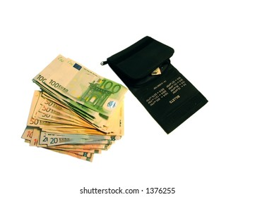 Purse and cash,isolated, business concept,