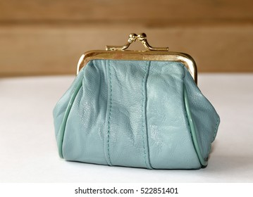 Purse for coins. A leather purse .