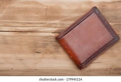 purse on wood background
