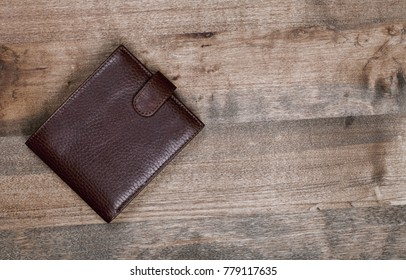 purse on wood background