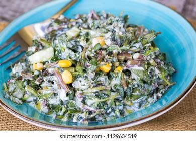 Purslane diet salad