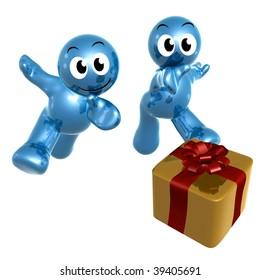 Pursuing surprise gift 3d icon