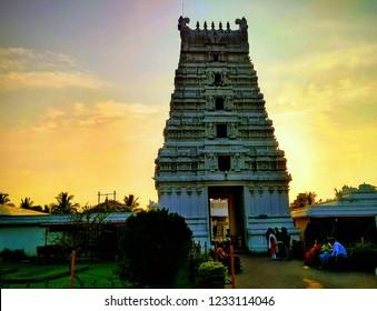 Purva Tirupati Shree Balaji Temple Guwahati Assam, a Hindu temple known for its south Indian style architecture, imposing stone idols &  parklike grounds.