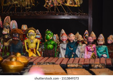 Purwakarta, September 22th 2019. Puppets show or wayang golek from Java Indonesia