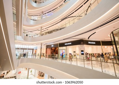 PUSAN ,SOUTH KOREA - APRIL 7,2018 : The interior in Lotte , biggest duty free department store in Pusan