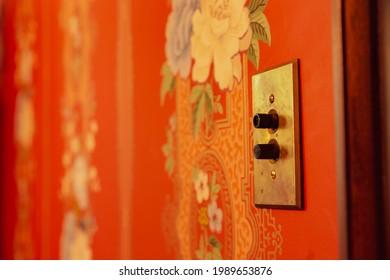 Push button light switcheson wall