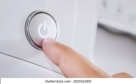 push button switch on washing machine
