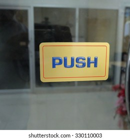 push the door