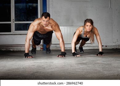 push up exercise man and woman