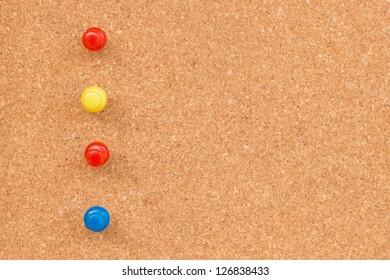 Push pin on the board