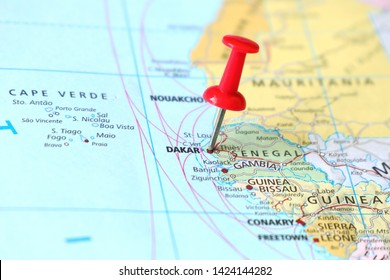 Dakar Map Images, Stock Photos & Vectors | Shutterstock on
