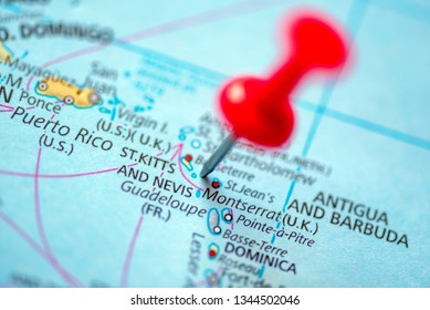 St Kitts and Nevis Map Stock Photos, Images & Photography ...