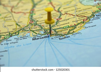 France map stock photos images photography shutterstock push pin pointing at marseille france gumiabroncs Image collections