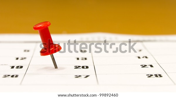 Push pin selects a date on the calendar
