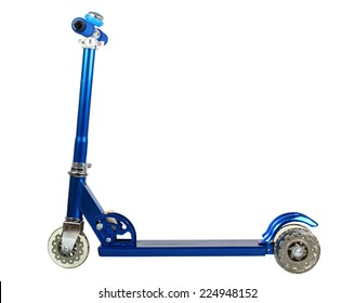 Push Scooter. Isolated with clipping path.