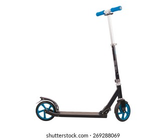 Push scooter isolated on white background. Accurate clipping PATH included