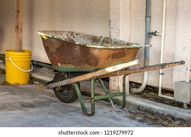Pushcart at a construction site