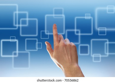 Pushing a button on touch screen
