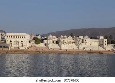 Pushkar is a city in the Ajmer district in Rajasthan, India. It is one of the five sacred dhams for devout Hindus. It is one of the oldest existing cities of India.  Focus at building.