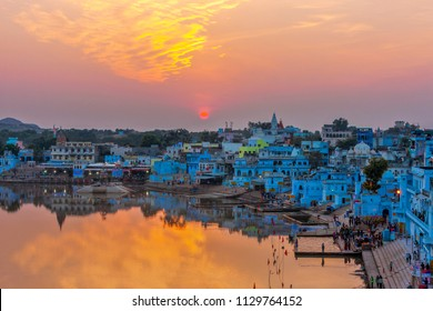 Pushkar Lake or Pushkar Sarovar is located in the town of Pushkar in Ajmer district of the Rajasthan state of western India. Pushkar Lake is a sacred lake of the Hindus
