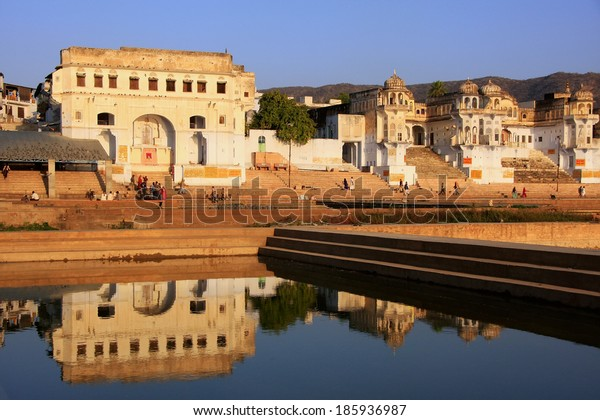 Pushkar lake and temples, Rajasthan, India