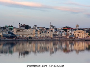 Pushkar town and Pushkar Sarovar lake. It is located in Ajmer district of the Rajasthan state. Pushkar Lake is a sacred lake of the Hindus in Rajasthan state.