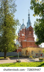 PUSHKIN (TCHARSKOE SELO), ST.PETERSBURG RUSSIA - SEPTEMBER 23, 2017: Church of the Martyr Iulian of Tarsiys of the Life Guards of His Majesty the Cuassir of the regiment, 1896-1899