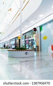 Pushkino, Moscow region. April 22, 2019. Pushkino Park shopping center