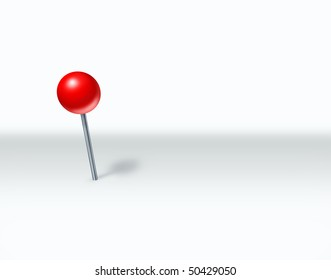 pushpin perspective marking spot white background