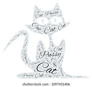 A pussy cat collage
