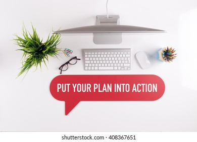 PUT YOUR PLAN INTO ACTION Search Find Web Online Technology Internet Website Concept