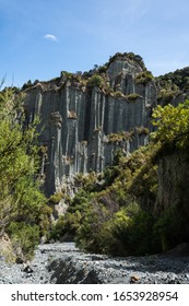 Putangirua Pinnacles rock formations in New Zealand