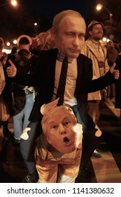 Putin And Trump Costume at NYC Halloween Parade, New York, NY,  October 31, 2017