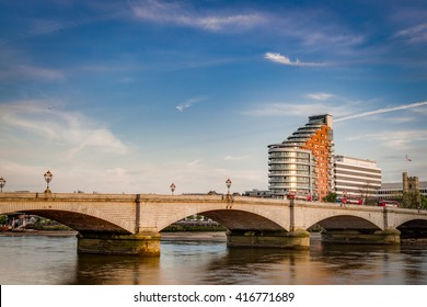 Putney bridge is connecting Fulham to Putney across the river Thames, is the only bridge in britain to have a church at each end, St. Mary's Church, Putney -south and All Saints Church, Fulham - north