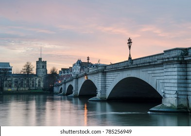 Putney Bridge- London. A major London bridge over the River Thames linking Putney on the south to Fulham in the north.