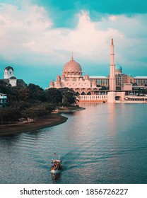 The Putra Mosque (Malay Masjid Putra) is the principal mosque of Putrajaya Wilaya, Malaysia. Construction of the mosque began in 1997 and was completed two years later.