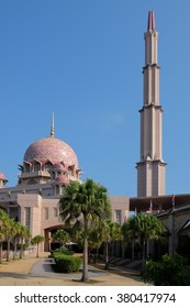 Putra Mosque (Masjid Putra) is the principal mosque of Putrajaya, Malaysia. Construction began in 1997 and was completed two years later.