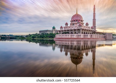 The Putra Mosque is the principal mosque of Putrajaya, Malaysia. It is located next  to Perdana Putra which houses the Malaysian Prime Minister's