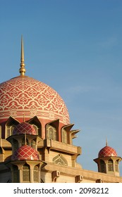 Putra Mosque in Putrajaya, Malaysia.