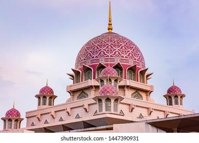 Putrajaya city,Malaysia.07/07/19,Putrajaya mosque on after noon,lanmark architecture