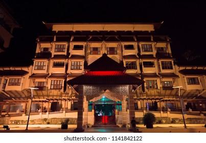 PUTRAJAYA - JULY 07 , 2018 , KUALA LUMPUR , MALAYSIA . Nice night view at Pullman hotel Putrajaya .