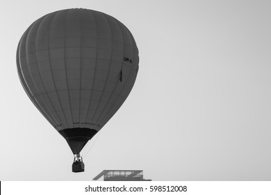 PUTRAJAYA, MALAYSIA - 12TH MARCH 2017; MyBalloon Fiesta in Putrajaya features colorful hot air balloon floats with over 15 balloonists from all over the world.