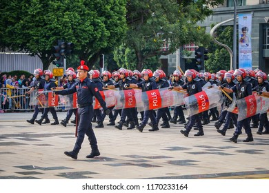 PUTRAJAYA, MALAYSIA - 31 August 2018: Merdeka Day celebration is a colorful event and is held in commemoration of Malaysia's Independence Day at Dataran Putrajaya.