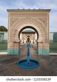 Putrajaya, Malaysia. August 11, 2018. Morocco Pavillion (Astaka Morocco) at Taman Botani, Putrajaya resemble the beautiful Islamic architecture, is one of the tourist attraction in Malaysia
