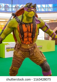 PUTRAJAYA, MALAYSIA - AUGUST 17, 2018: Donatello from Teenage Mutant Ninja Turtle (TMNT) replica statue at Putrajaya Mall, Malaysia.