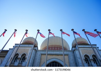 PUTRAJAYA, MALAYSIA - AUGUST 30, 2018: The Palace of Justice houses , the Malaysian Court of Appeal and Federal Court, which moved to Putrajaya from the Sultan Abdul Samad Building in Kuala Lumpur